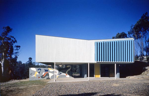 Marcus Seidler House, Wahroonga Sydney 1953. Mural by and Photographer: Harry Seidler