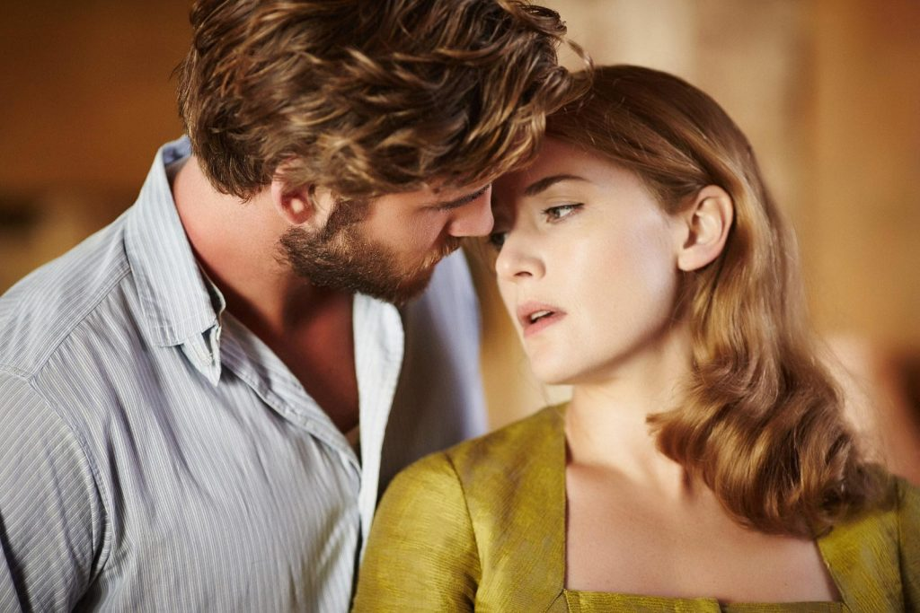 Kate Winslet and Liam Hemsworth in The Dressmaker