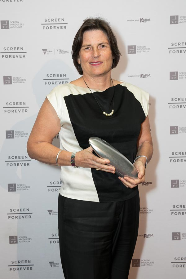 Producer Sue Maslin receiving The Dressmaker SPA Award for Feature Film