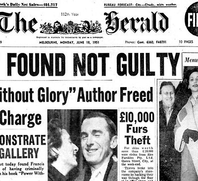The Herald cover - Hardy Found Not Guilty
