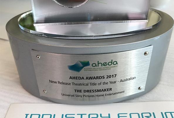 The Dressmaker wins AHEDA Award 2016 for New Release Theatrical Title of the Year - Australian