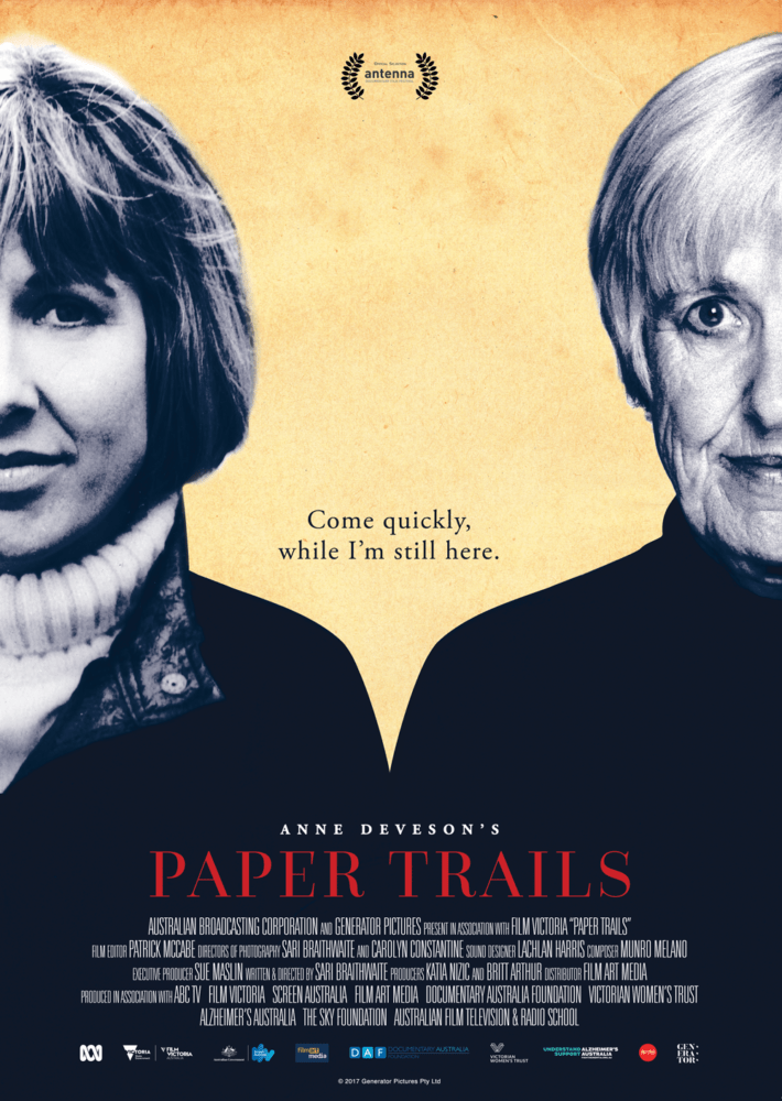 Anne Deveson documentary PAPER TRAILS debuts trailer.