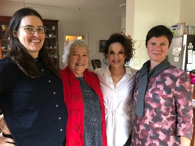 Brazen Hussies team meet Merle and Sigrid Thornton